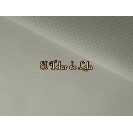 PIQUE NIDO DE ABEJA MARFIL 25 CMS